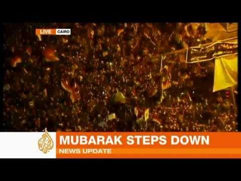 מובארק התפטר - חגיגות בקהיר