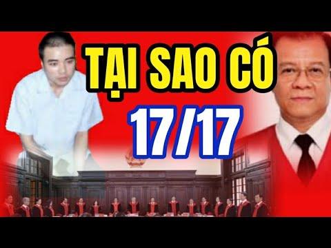 Vụ án Hồ Duy Hải Vì sao lại có 17/17 vi Thẩm Phán mà không là 5 hay 7 hay 9 thẩm phán CC USA from YouTube · Duration:  9 minutes 39 seconds