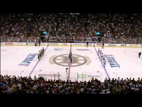 Rene Rancourt sings Star Bangled Banner. 6/24/13 Chicago Blackhawks vs Boston Bruins NHL Hockey