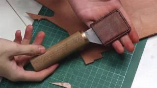 How to make a Japanese leather skiving knife with common tools