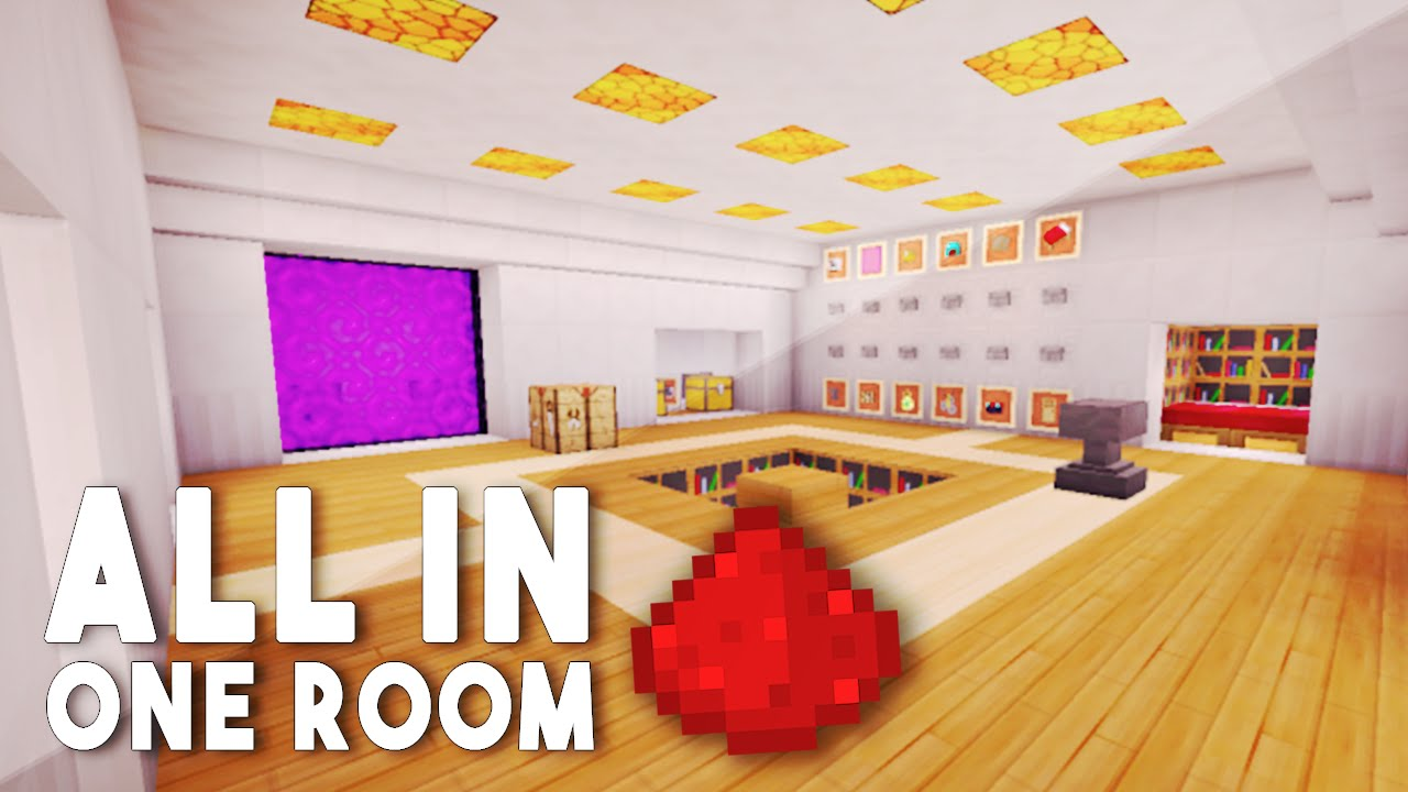 All In One Room all in one room | redstone house (w/ 12 redstone creations) - youtube