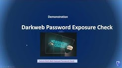 Dark Web Password Exposure Check - How to know if your data is for sale on the Dark