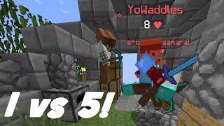Minecraft: INSANE 1v5! (Hypixel Mega SkyWars)