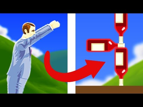 Thumbnail: BOTTLE FLIP CHALLENGE!! | Happy Wheels Funny Moments