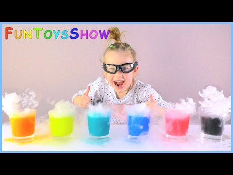 Thumbnail: Learn Colors with Colored Water & Dry Ice for Children, Toddlers and Babies | Learn Colours for Kids