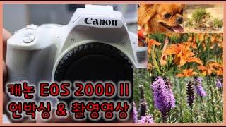 캐논 EOS 200D II 언박싱 & 촬영영상