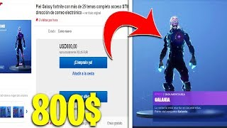 J'achète AN ACCOUNT OF 800$ DE FORTnite avec THE SKIN GALAXY 😱!!