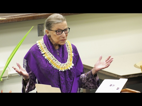 Supreme Court Associate Justice Ruth Bader Ginsburg shares decades of wisdom with UH law students