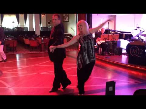 Dance host Clinton Collier aboard Queen Mary 2 Cha cha cha