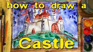 How to draw a castle / Painting