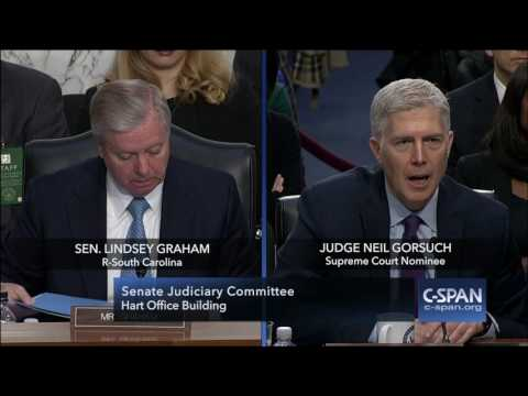 """Judge Gorsuch: """"Senator, I would have walked out the door."""" (C-SPAN)"""