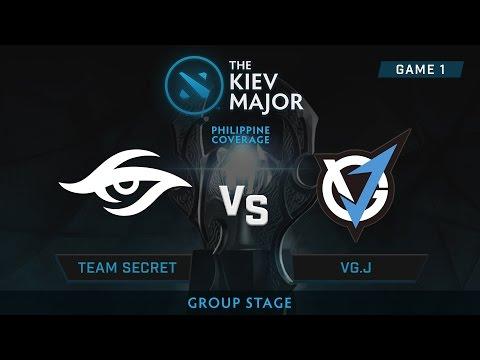 Team Secret vs VG.J | Kiev Majors : Group Stage | Philippine Coverage | Game 1