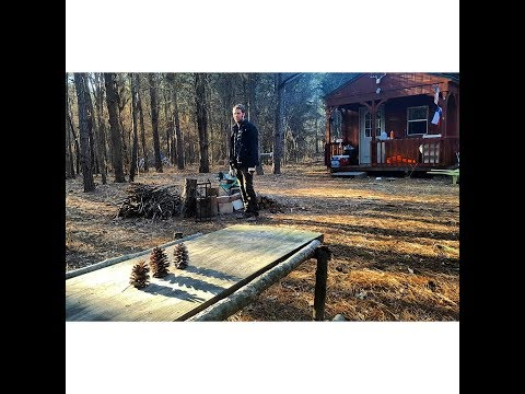 Off Grid Cabin: Alone in Northeast Texas- Arrive, Woodburner, Hike, Trail Cams- Update 1- PT 1/4