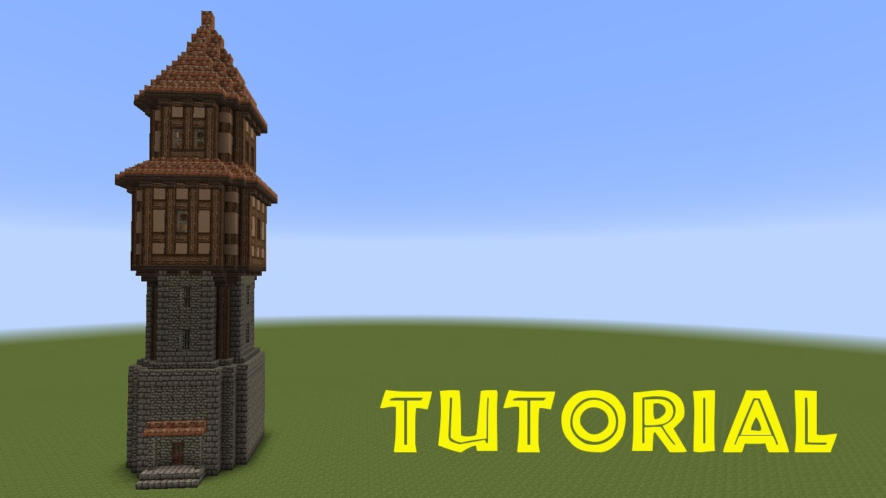 Minecraft Tutorial Turm Bauen Build A Tower YouTube - Minecraft hauser aus holz und stein