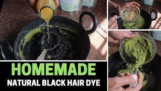 HOMEMADE NATURAL HAIR DYE || INSTANT BLACK HAIRS || turn your white hairs into back