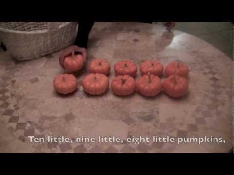 Ten Little Pumpkins SONG  Lyrics  COUNT NUMBERS 110 forward & backwards