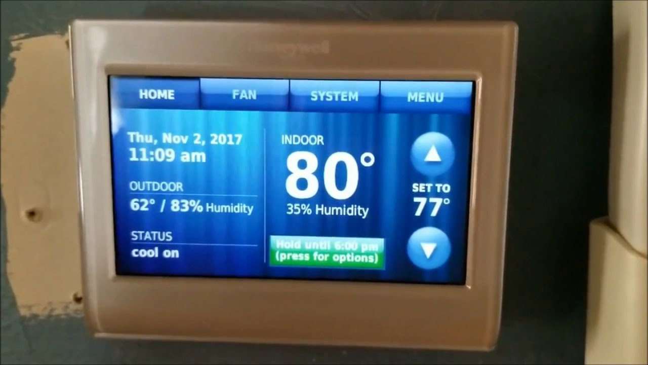 Honeywell Wifi Smart Thermostat Alexa Amazon Echo Show Dot Tap Ready Rth9580 Youtube