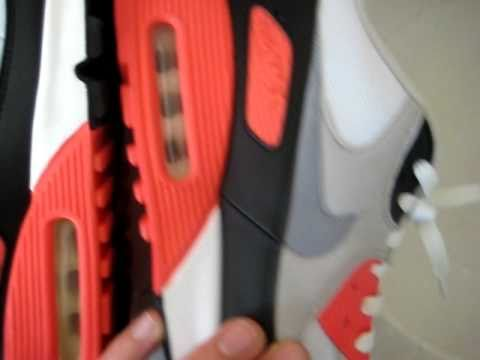 e528fceda9 NIKE AIR MAX 90 INFRARED HISTORY OF AIR 2005 VS. 2010 RETRO REVIEW - YouTube