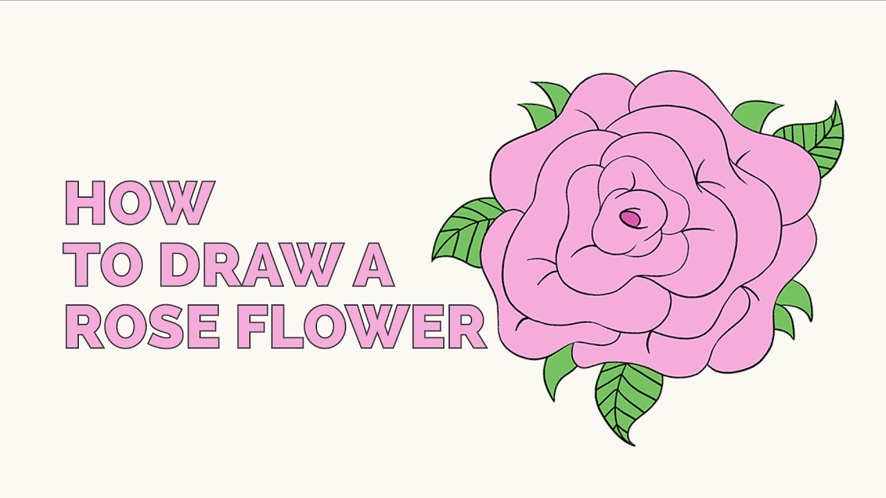 How To Draw A Rose Flower  Easy Stepbystep Drawing Tutorial