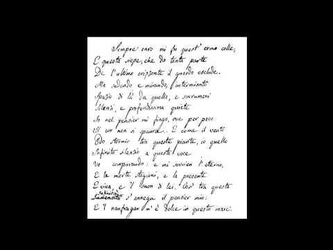 L´INFINITO Giacomo Leopardi || БEЗКРАЙНОСТ Джакомо Леопарди