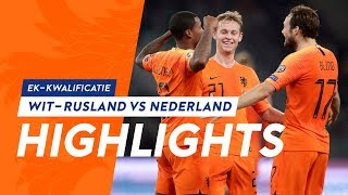 Highlights Wit Rusland   Nederland (13/10/2019) Ek Kwalificatie
