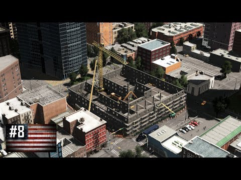 Cities: Skylines - The American Dream #8 - Downtown college construction and life in the projects
