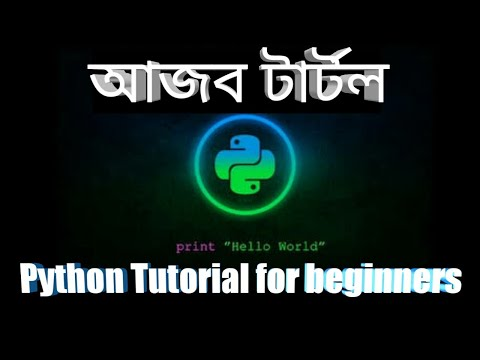 Turtle in Python।Bangla Tutorial। Python tutorial for beginners। part - 2 thumbnail