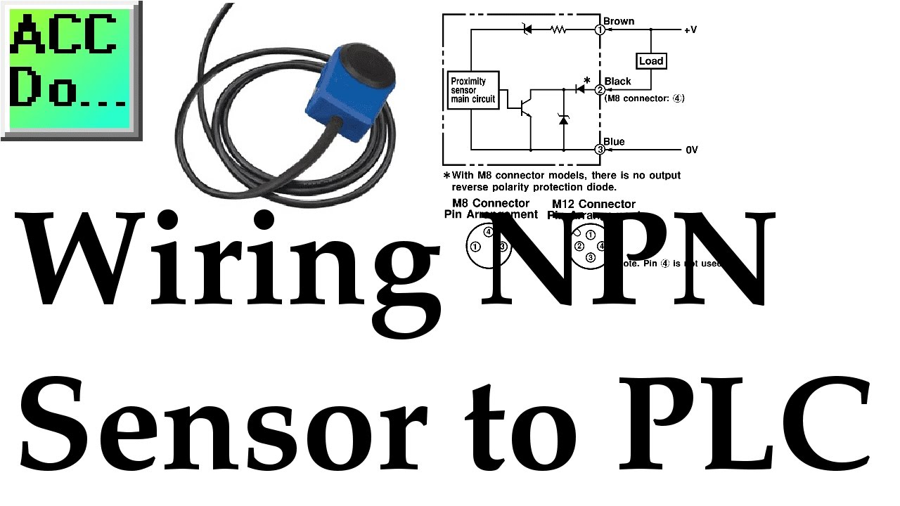 Wiring NPN Sensor to PLC - YouTube
