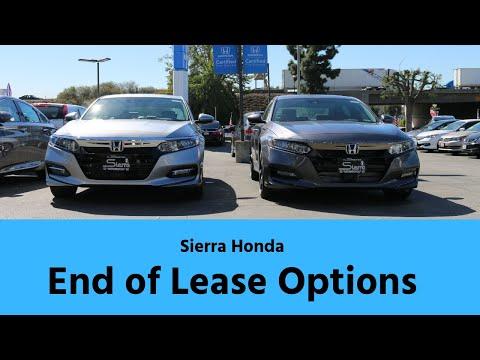 Honda End-of-Lease Options: Sierra Honda