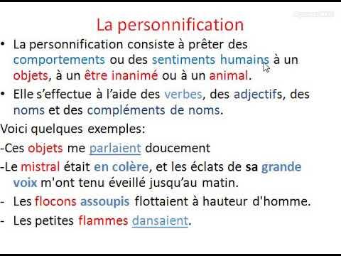 La personnification - YouTube