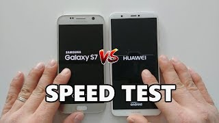 Huawei P Smart vs. Samsung Galaxy S7 Speed Test