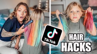 ON TESTE DES TIKTOK HAIR HACKS ! (idéal pendant le confinement !)