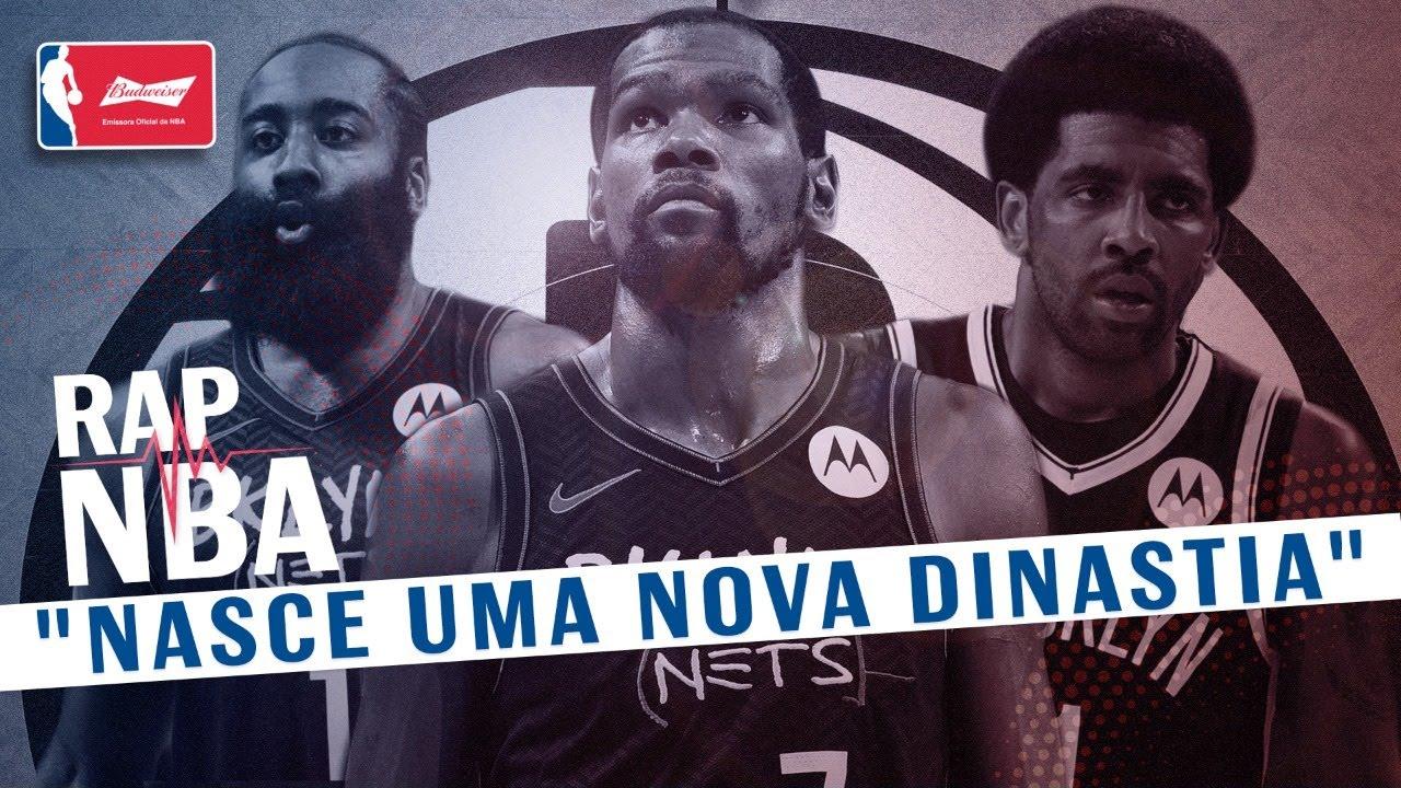 DURANT, IRVING E HARDEN!!! Só um milagre pode parar os NETS?  - RAP NBA