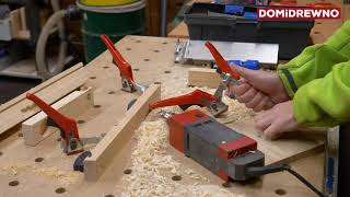 Iskra (Spark) Drill - extreme angle drilling in solid wood