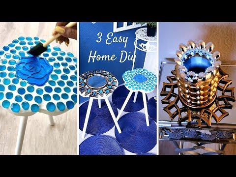 HOW TO DIY UNIQUE PIECES WITH KITCHEN ITEMS - QUICK AND EASY HOME DECOR IDEAS!