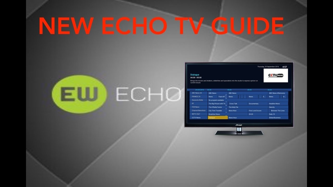 OFFICIAL COMPLETE INSTALLATION GUIDE FOR ECHO TV GUIDE SEPTEMBER 2016