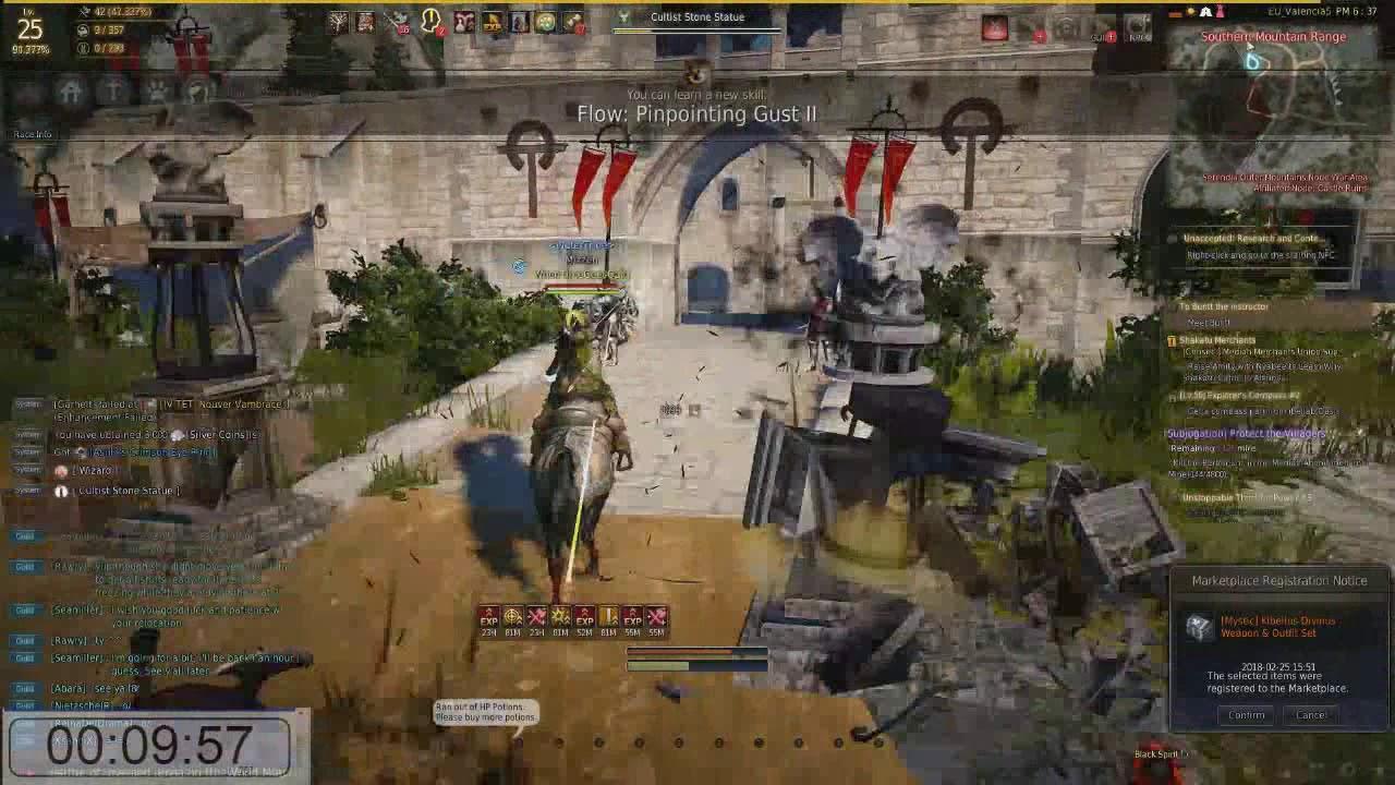 Black desert Online - powerleveling solo :: 1 - 50 in half an hour