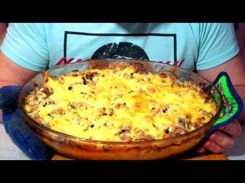 Картошка с мясом и в сметане в духовке