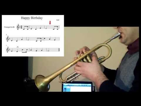 beginners trumpet lessons happy birthday