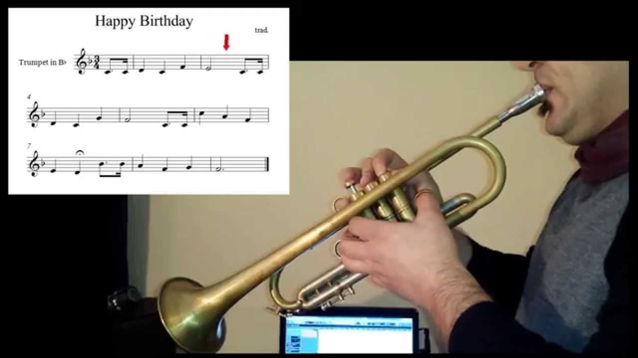 Beginners Trumpet Lessons Happy Birthday Youtube