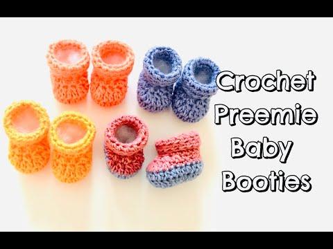 How to Crochet Preemie Baby Booties