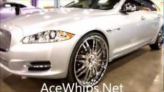 "AceWhips.NET- Silver 2012 Jaguar XJL on 26"" Forgiatos"