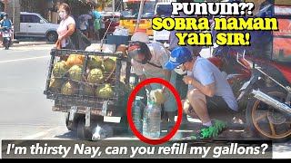 """KURIPOT PRANK"" on Nanay COCONUT Vendor 🇵🇭 (PRICELESS Reaction!)"