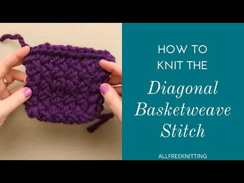 How To: Diagonal Basket Weave Stitch
