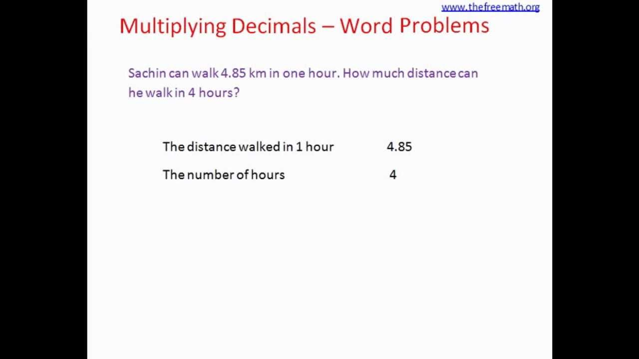 Word Problems Multiplying Decimals Scalien – Multiplying Decimals Worksheets Word Problems