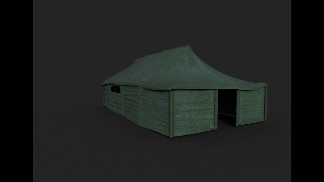 Making of tent 3ds max - Marvelous designer tutorial part-1