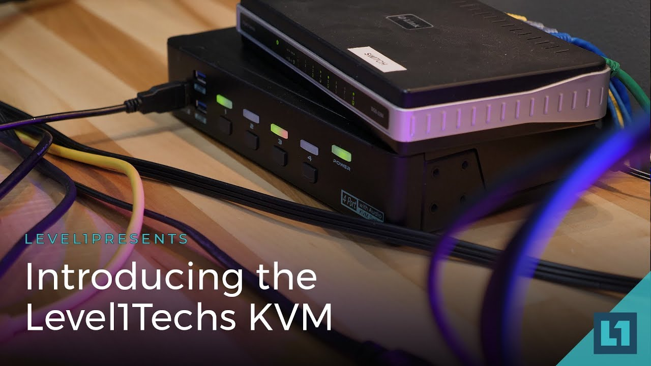The Level1Techs KVM (Keyboard, Video Mouse) Switch - 4k/60hz monitor