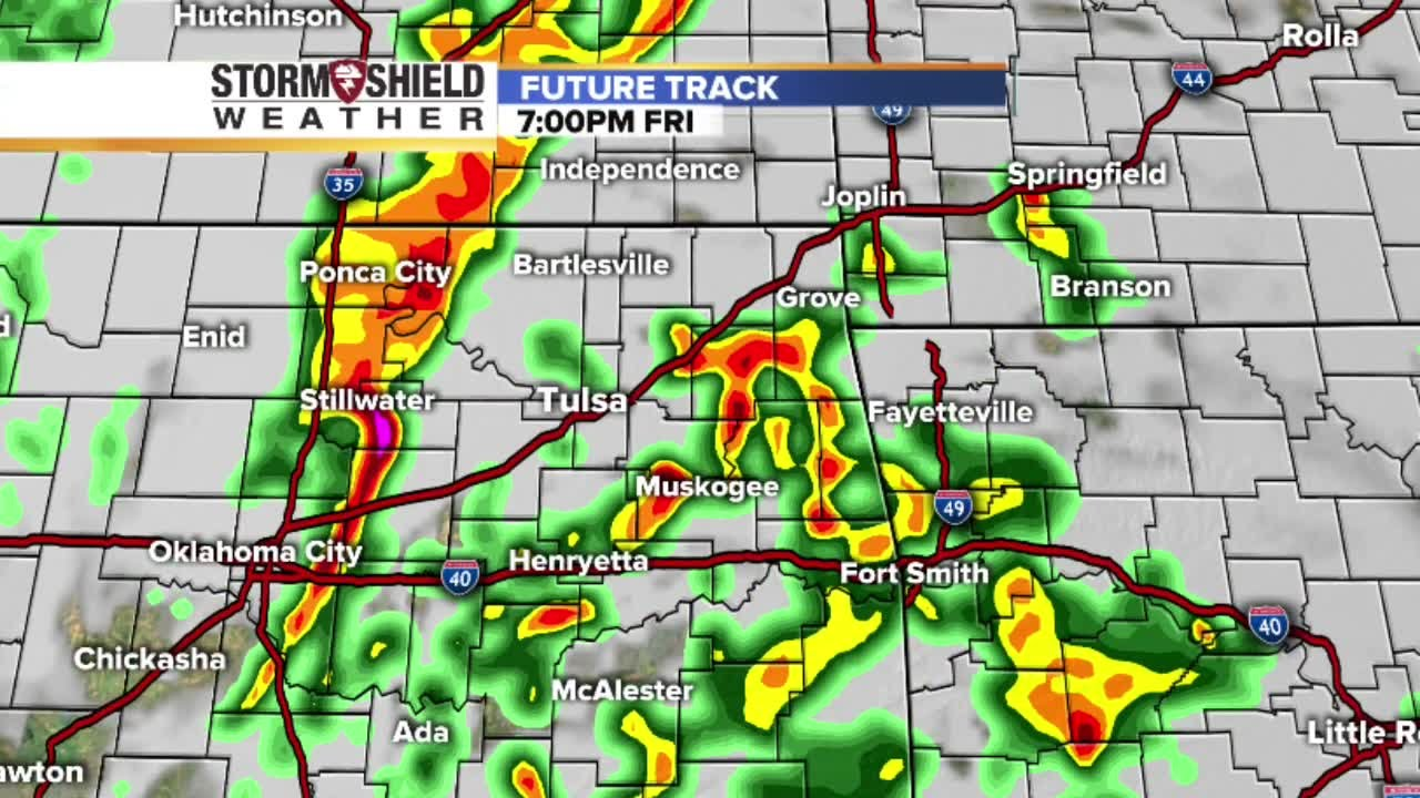 Future Track Radar Shows Timeline Of Severe Weather Storms To Hit