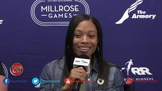 Millrose Games Press Conference: Allyson Felix
