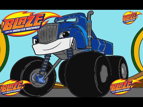 Blaze and the monster machines crusher color episode youtube for Blaze episodi